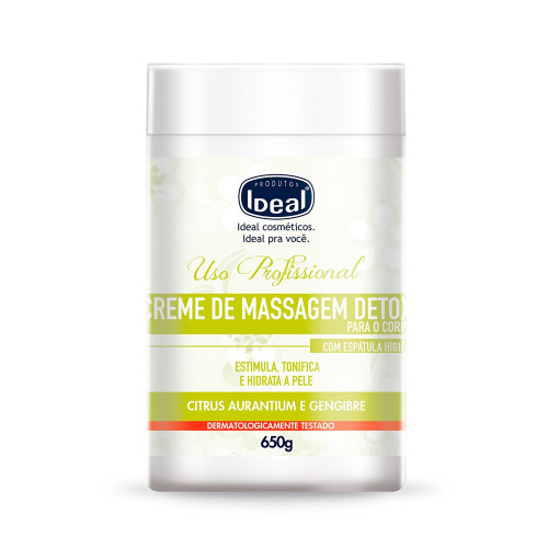 Creme Para Massagem Corporal Ideal Detox 650g