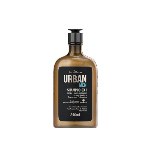 Shampoo Farmaervas Urban Men 3x1 240ML