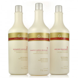 Kit Escova Progressiva G Hair Alema Inoar (3x 1 litro)