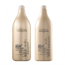 Kit Shampoo 1,5L + Condicionador 1,5L Absolut Repair Cortex Lipidium Loréal Professional